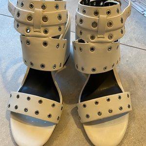 Rebecca Minkoff high heeled studded sandals size 8